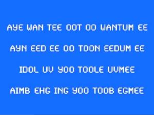 aye wan tee oot